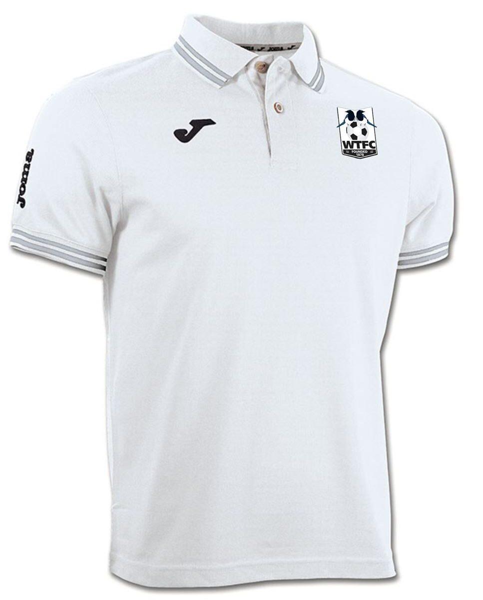 Wimborne Town FC White Polo Shirt