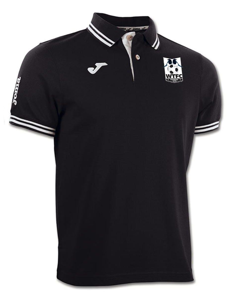 Wimborne Town FC Black Polo Shirt
