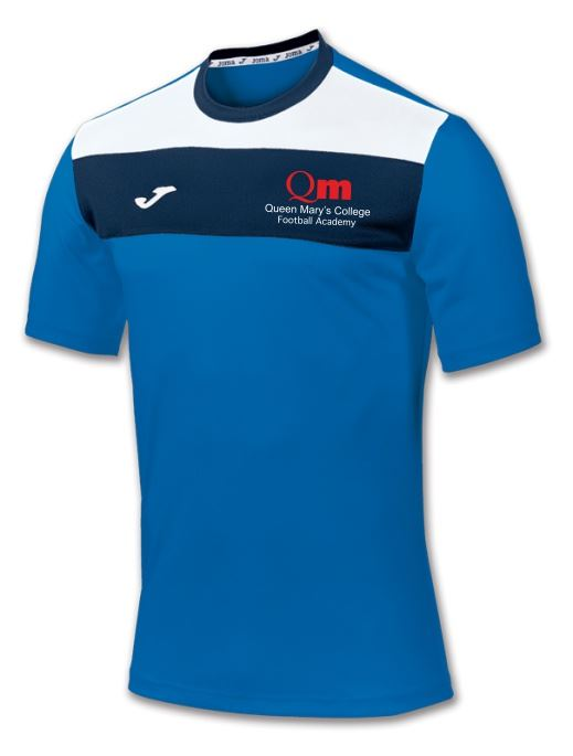 Crew S/S Tshirt Royal - Queen Mary's College Football Academy
