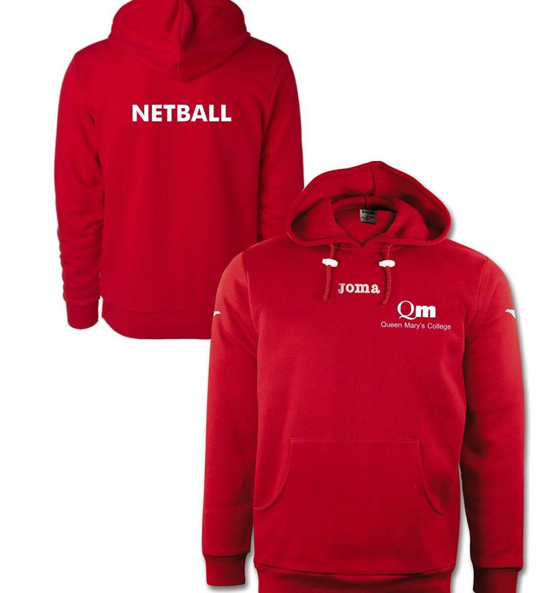 Queen Mary's Combi Atenas Fleece Hooded NETBALL Sweatshirt