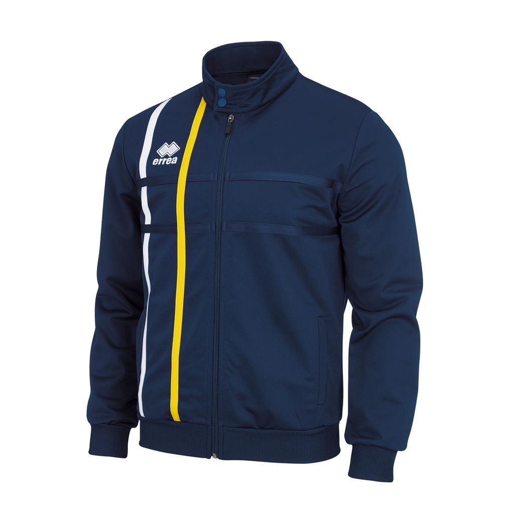 Martin Piquet Jacket Navy/White/Yellow- RLC Basketball