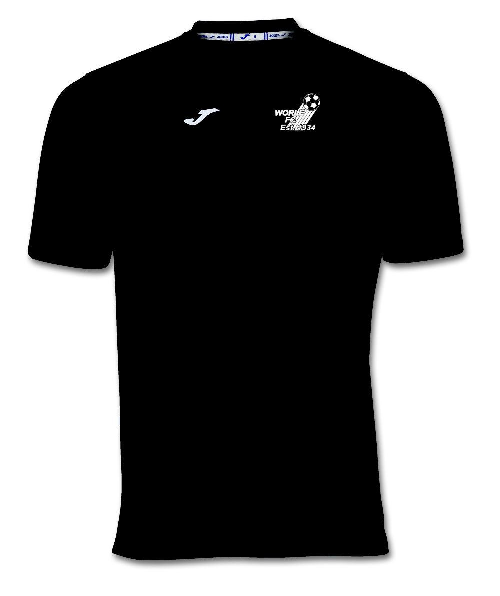 Worle FC Black Combi T Shirt