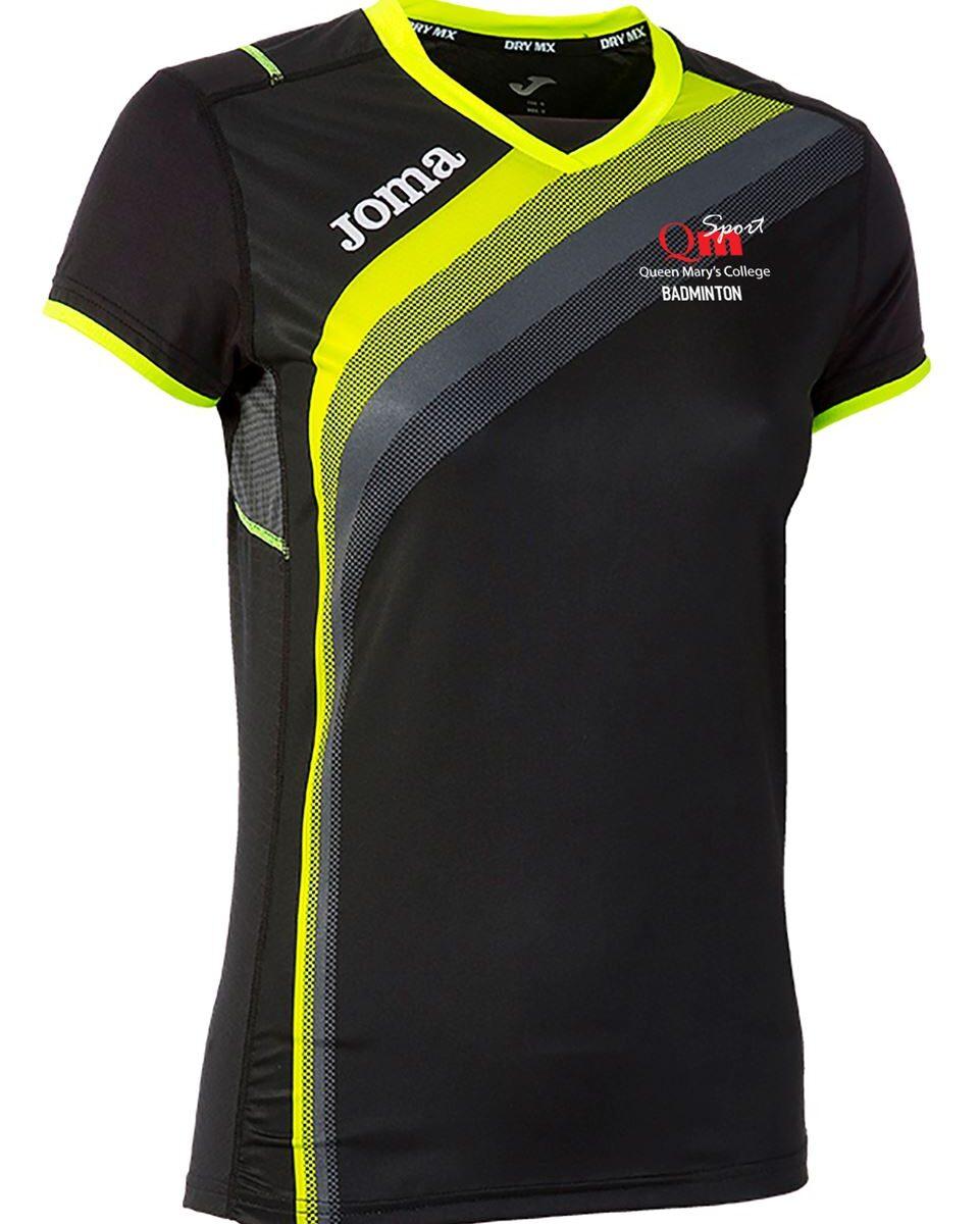 QMC Badminton Female Short Sleeve Black/Yellow T Shirt  900207.121