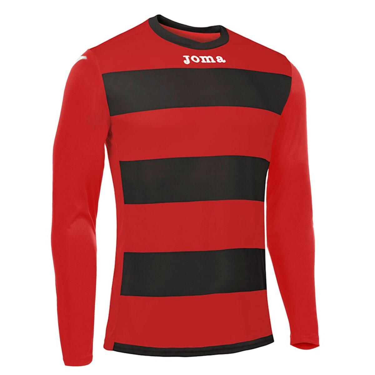 Joma Europa III Junior L/S Football Shirt