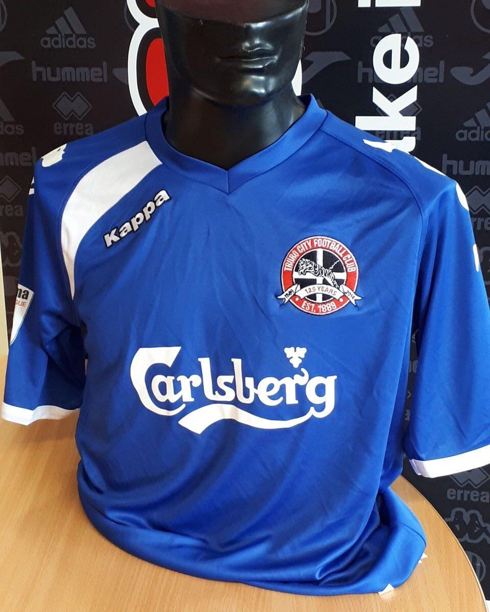 Truro City FC  AWAY Replica Blue Kappa Shirt