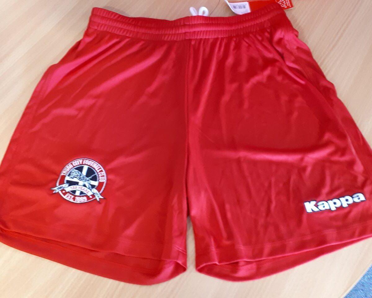 Truro City FC Junior Replica Red Kappa Shorts