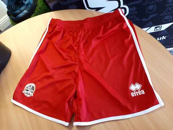 Truro City FC Errea Replica Red Shorts - MEDIUM