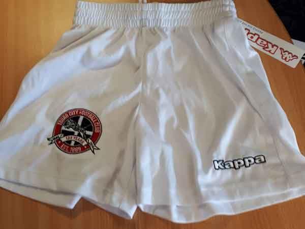 Truro City FC Junior Replica White Kappa Shorts