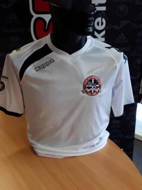 Truro City FC JUNIOR Replica White Kappa Shirt