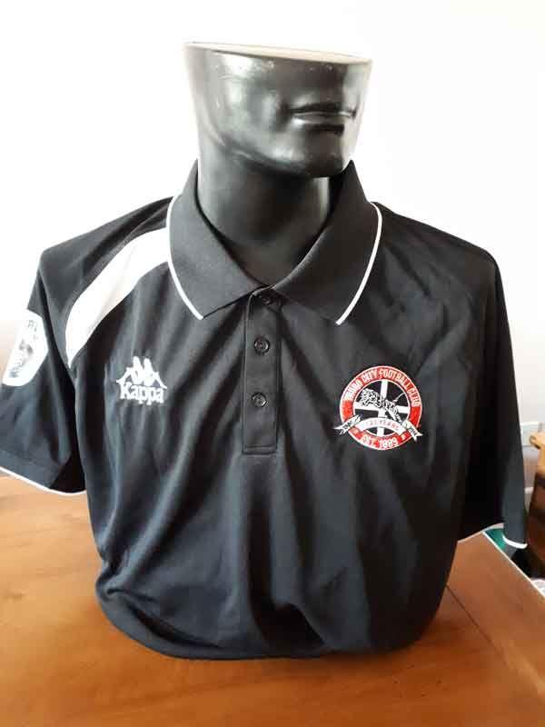 Truro City FC Kappa Black Polo Shirt