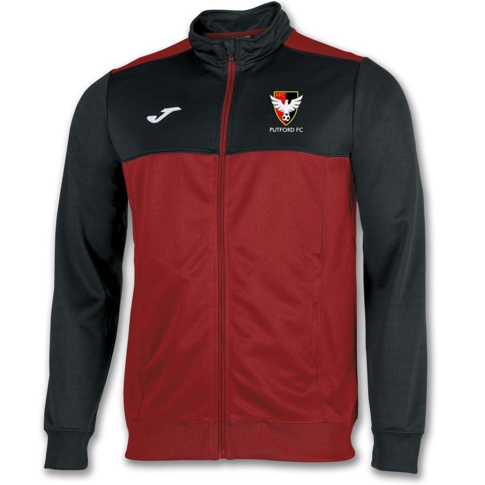 Putford FC Tracksuit Top - Joma Winner Red/Black