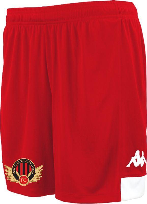 Winchester Flyers Match Shorts - Kappa Paggo Red Shorts