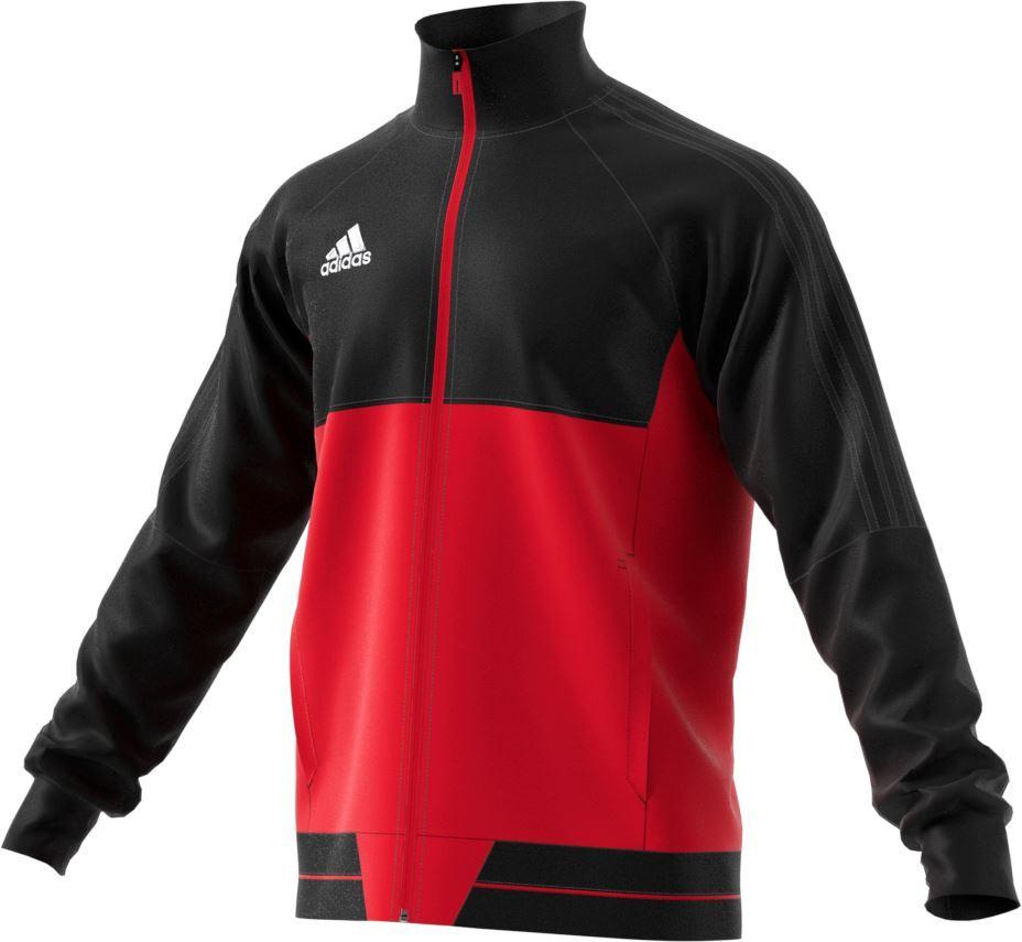 Adidas Tiro 17 PES Jacket BQ2596 - Adult Red/Black