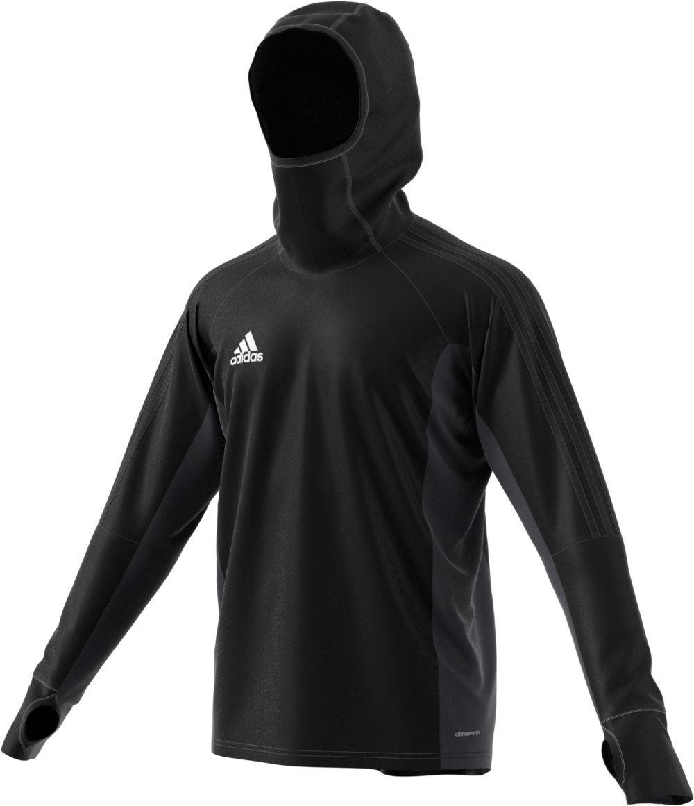 Adidas Tiro 17 Warm Top - Adult  Black/Dark Grey/White  AY2867