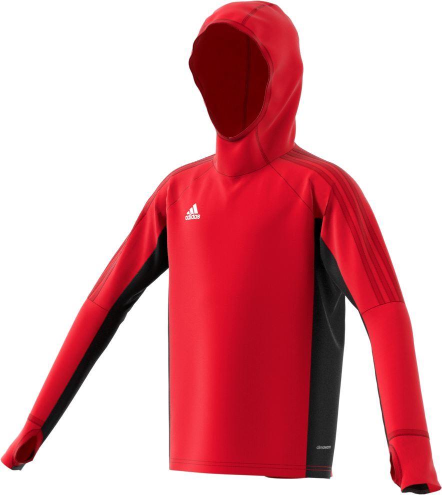 Adidas Tiro 17 Warm Top - Adult BP8569 Red/Black
