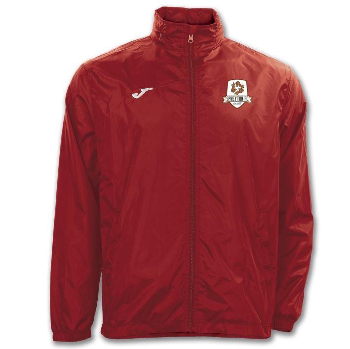 Spreyton FC Rain Jacket - Iris Red