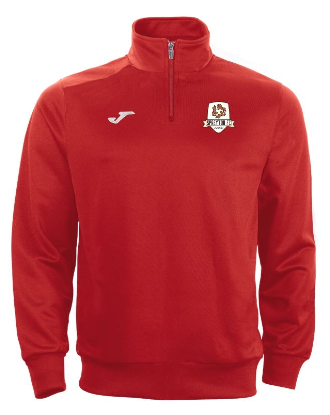 Spreyton FC Training 1/4 Zip Top Red