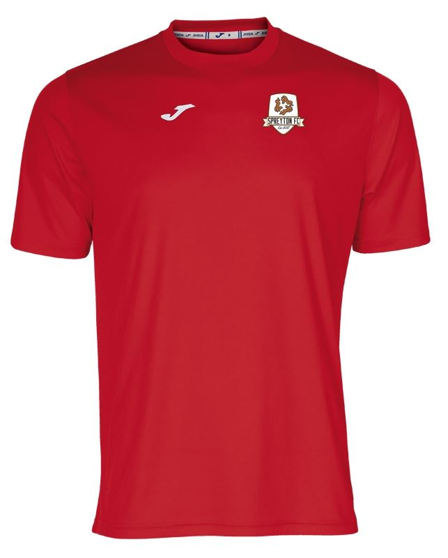 Spreyton FC Training T Shirt - Red