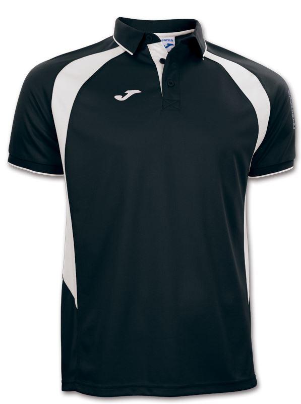 Joma Champion III Polo Shirt Black/White 100018.102