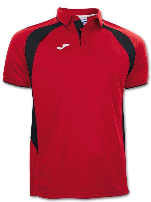 Joma Champion III Polo Shirt Red/Black 100018.601