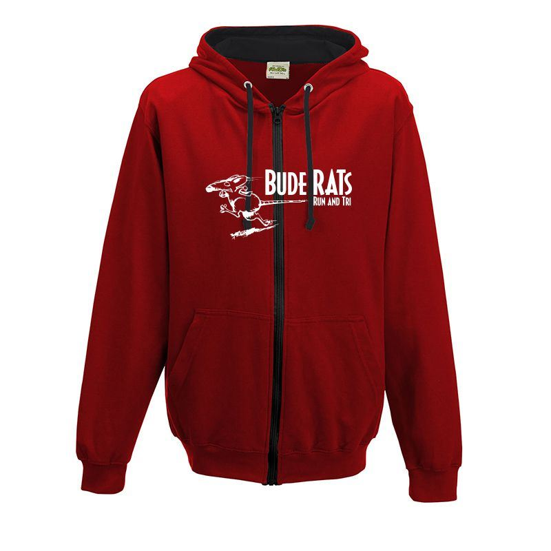 Bude Rats Unisex Full Zipped AWDIS Hooded Sweatshirt