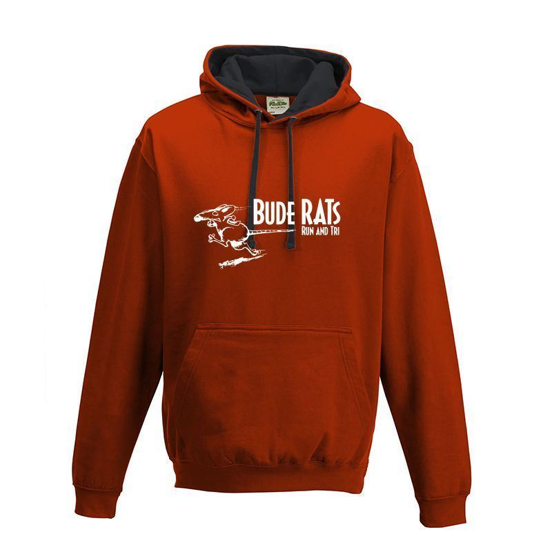 Bude Rats Unisex AWDIS JUNIOR Hooded Sweatshirt - JH03JFRJB