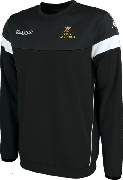 Army Warriors  Kappa Lido Sweat Shirt 304IN90 909 Black/White