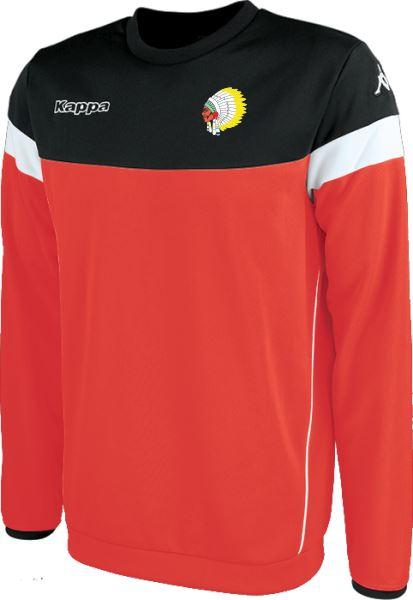 Army Warriors  Kappa Lido Sweat Shirt 304IN90 939 Red/Black