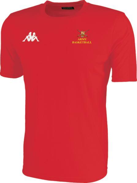 Army Warriors Kappa Meleto T Shirt Red 304TSWO 928