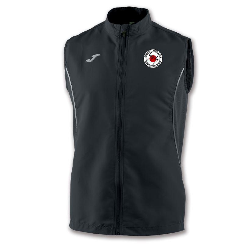 South Molton Strugglers Running Club Vest Record II Black Sleeveless 100762.100