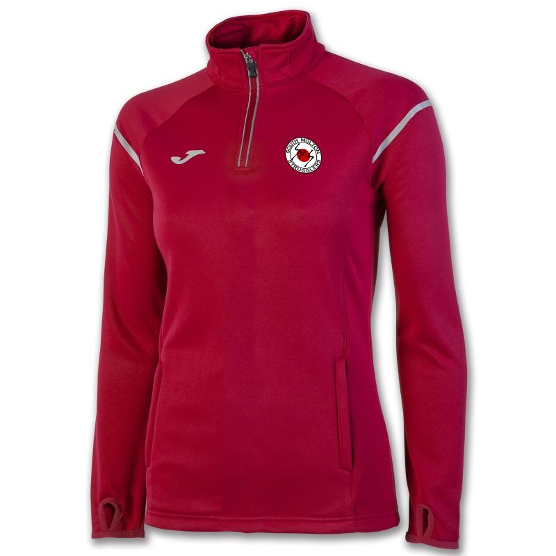 South Molton Strugglers Running Club FEMALE  Sweatshirt 1/2 Zipper Race Red 900661.600