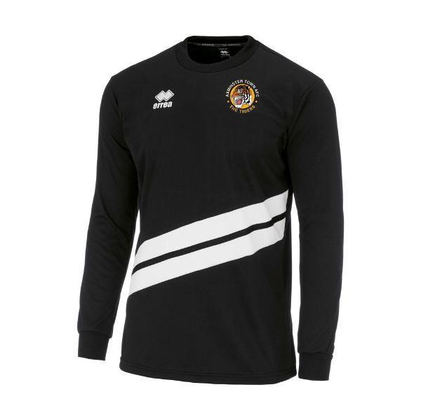 Axminster Town AFC Errea ADULT Julio Sweatshirt Black/White FG0G0Z02500