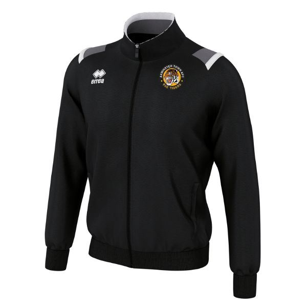 Axminster Town AFC Errea ADULT Lou Tracksuit Jacket Black/White/Anthracite FGOP0Z07780