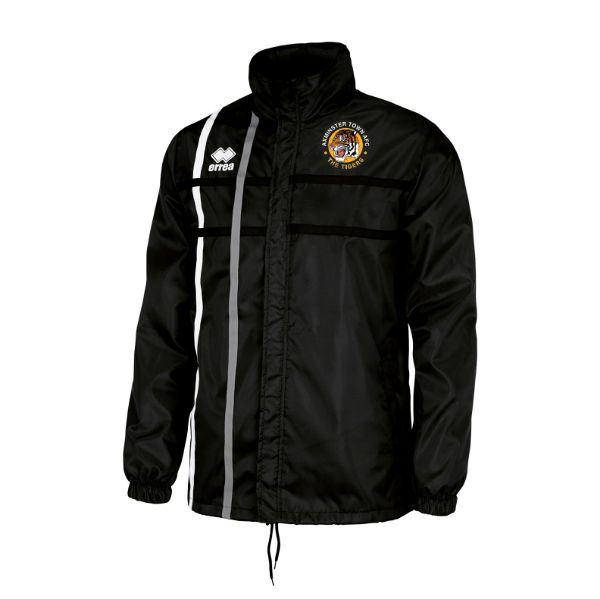 Axminster Town AFC Errea JUNIOR Mitchell Rain Jacket Black/White/Anthracite EJOFOZ08140
