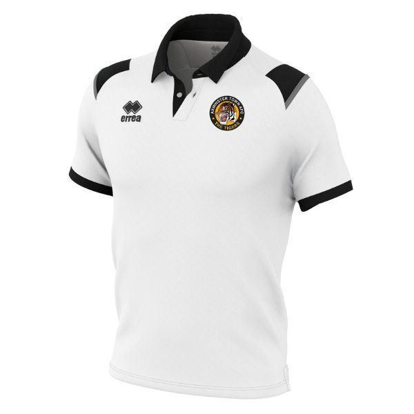 Axminster Town AFC Errea Luis JUNIOR  Polo Shirt White/Black Anthracite FM711C19100