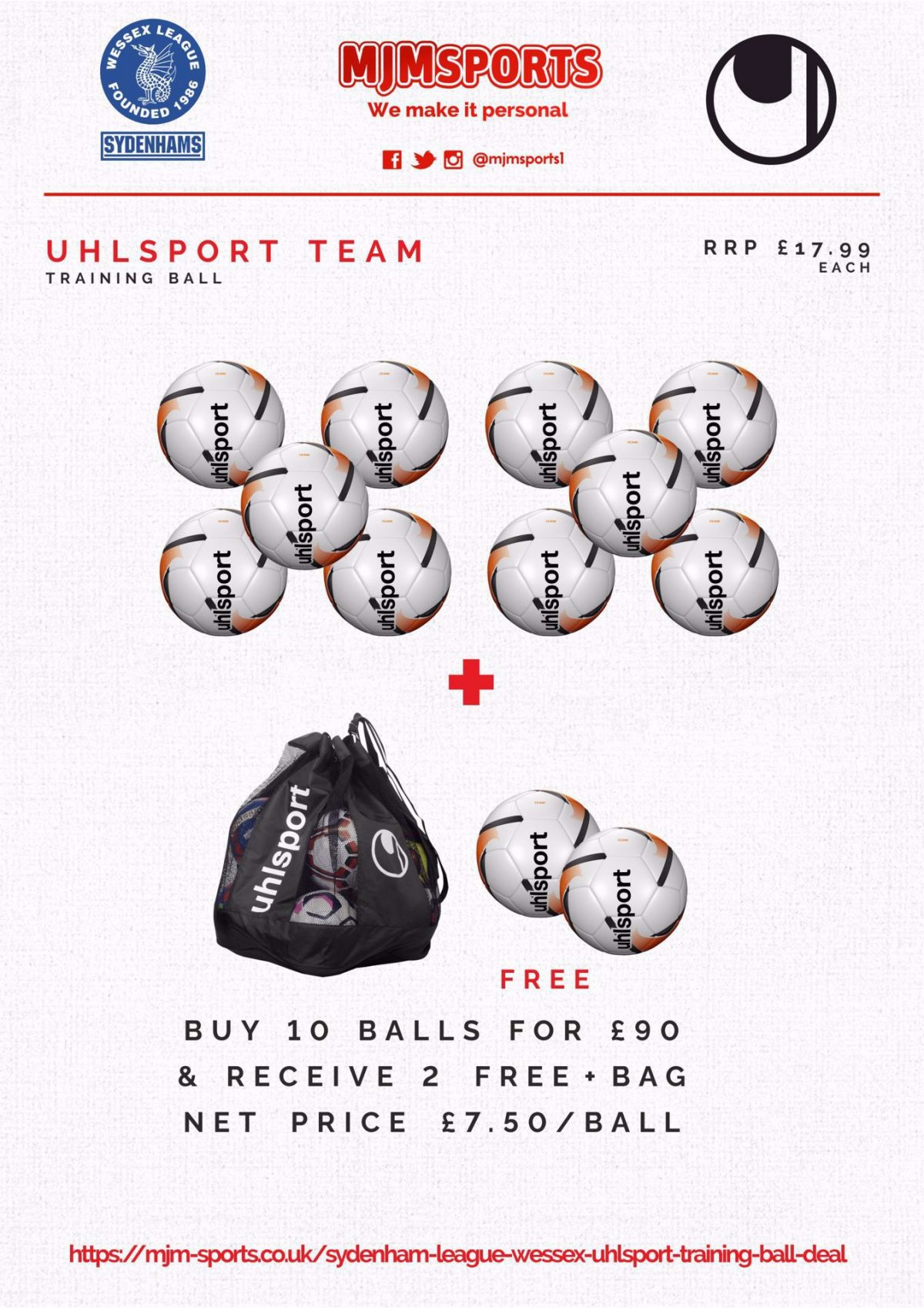 Sydenham League (Wessex)  UHLSPORT TRAINING BALL DEAL