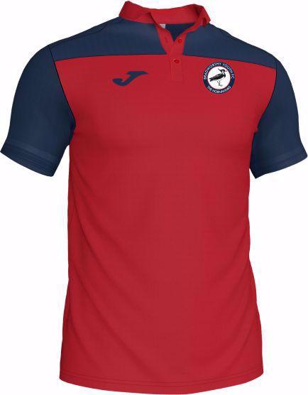 Adult Polo Shirt - Bradworthy Youth FC - CREW III Red/Navy