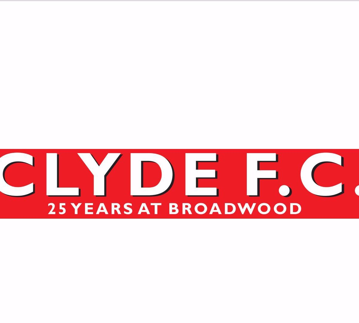 Clyde FC Scarf -25 Years