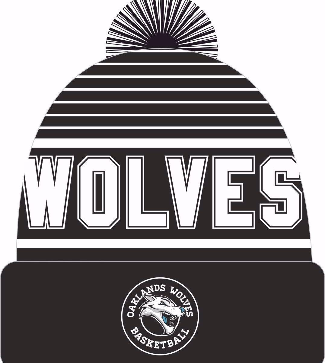 Oakland Wolves Custom Pom Beanie