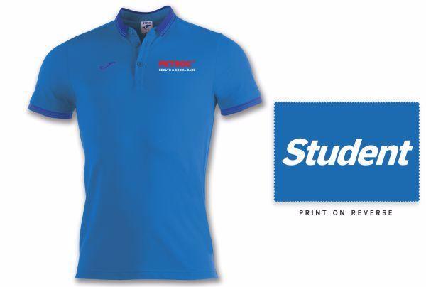 Petroc Health and Social Care - Bali Polo Shirt - ROYAL - junior sizing