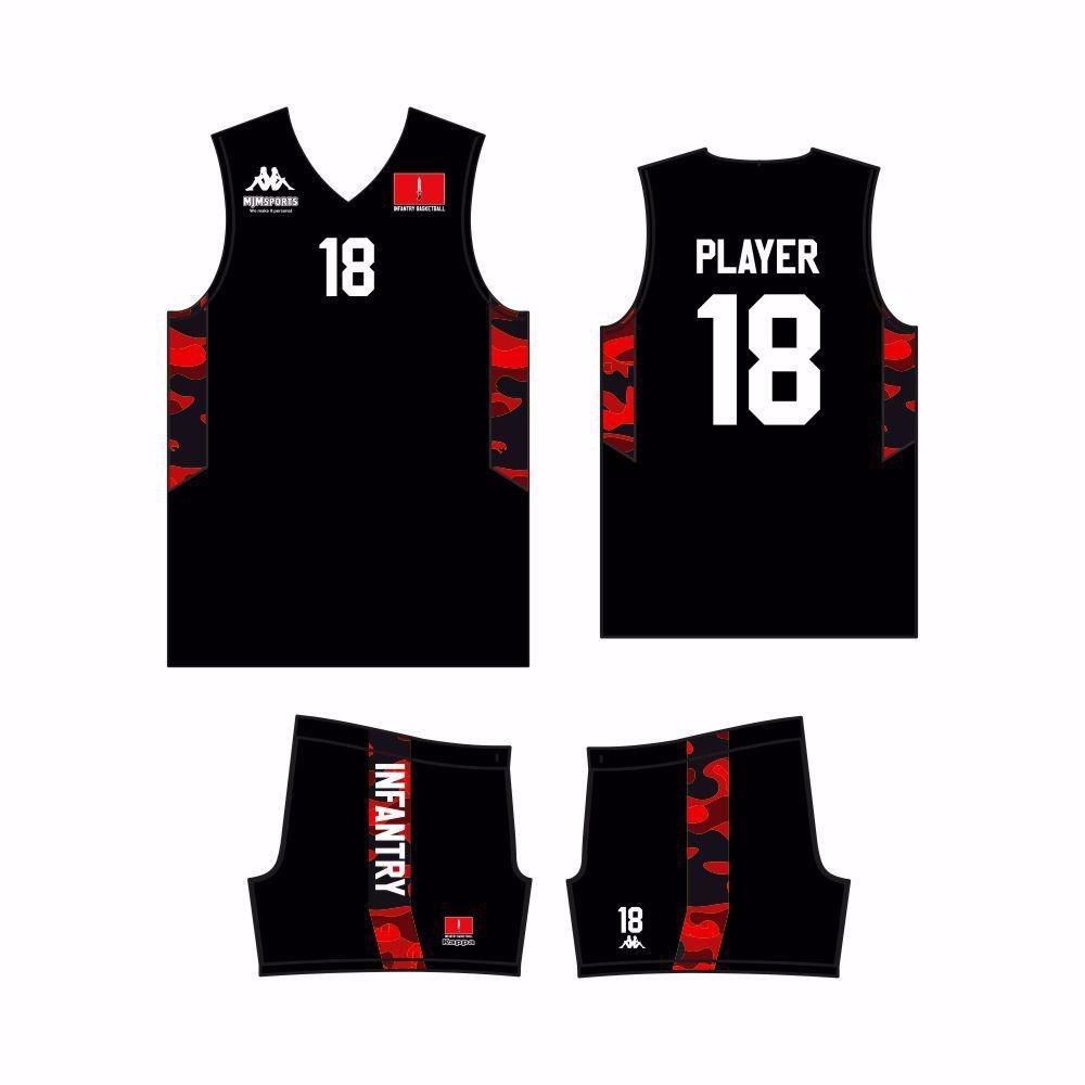 Infantry Basketball Kappa Custom Vest & Shorts - HOME