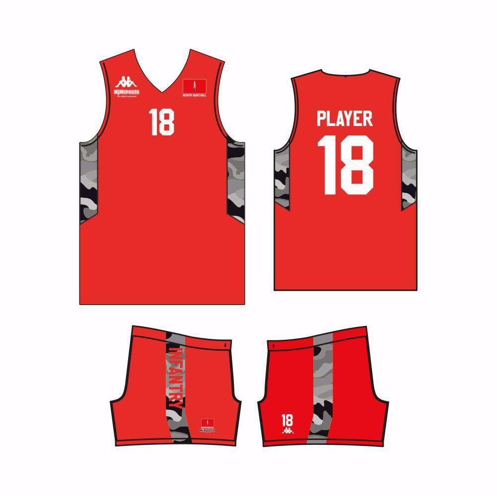 Infantry Basketball Kappa Custom Vest & Shorts - AWAY