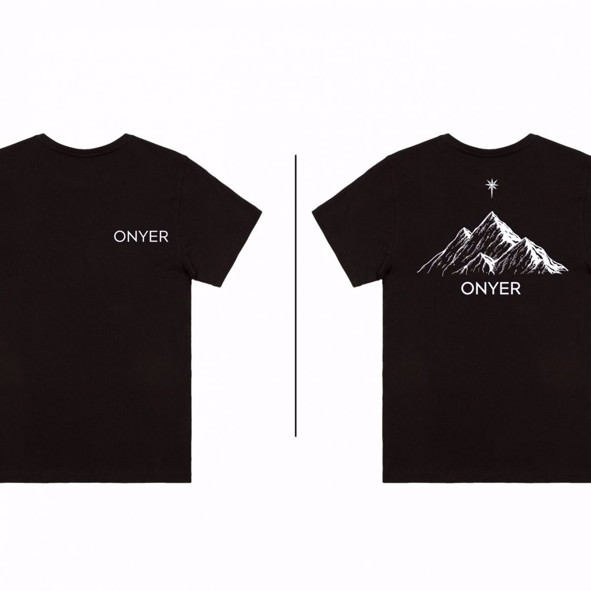 ONYER MOUNTAIN TEE (BLACK)