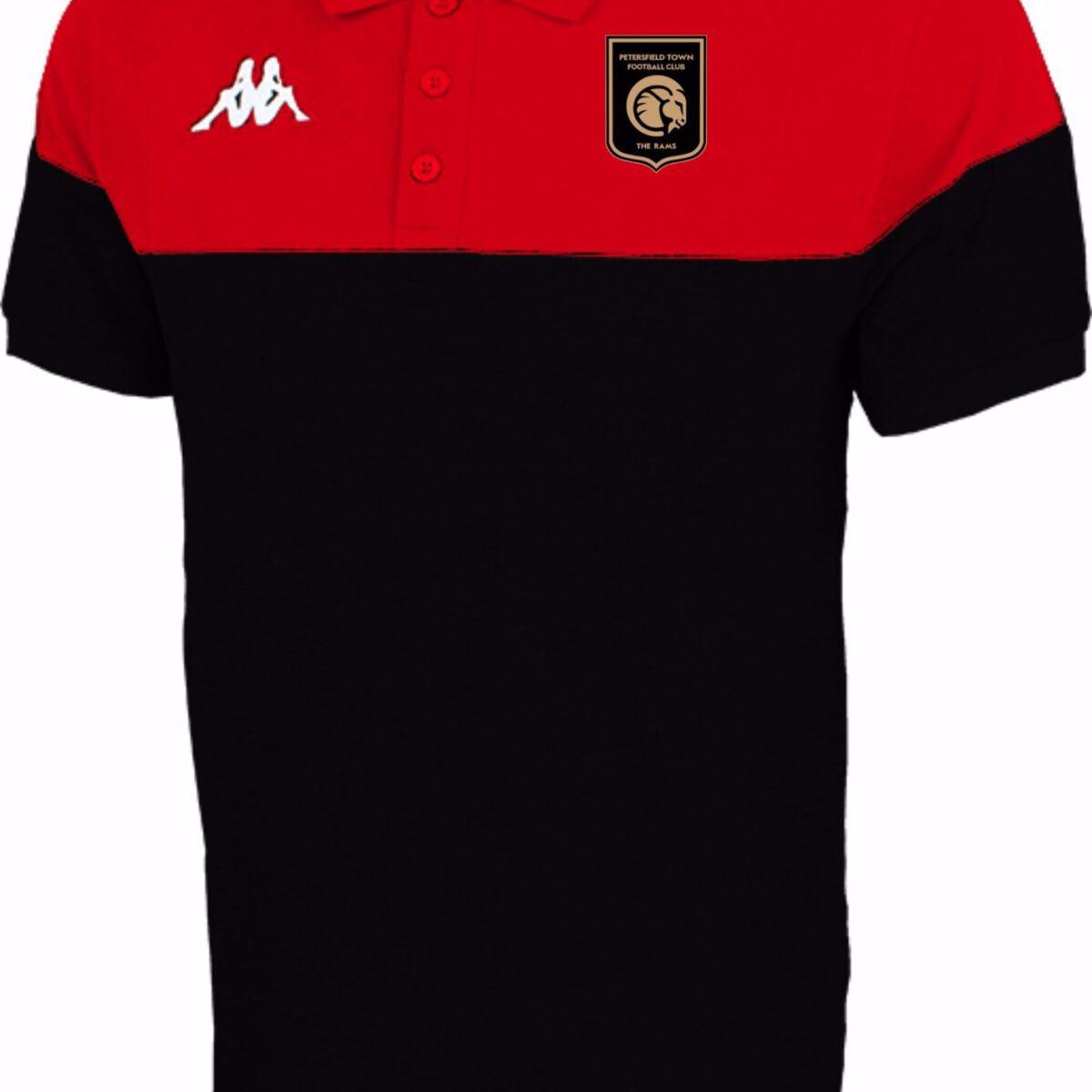 Kappa Pianetti Polo Shirt  304IPMO - Petersfield Town FC RED/BLACK