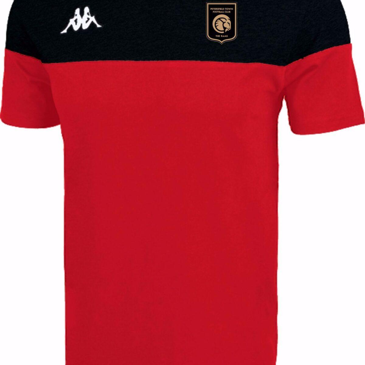 Kappa Siano T SHIRT - Petersfield Town FC Red/Black