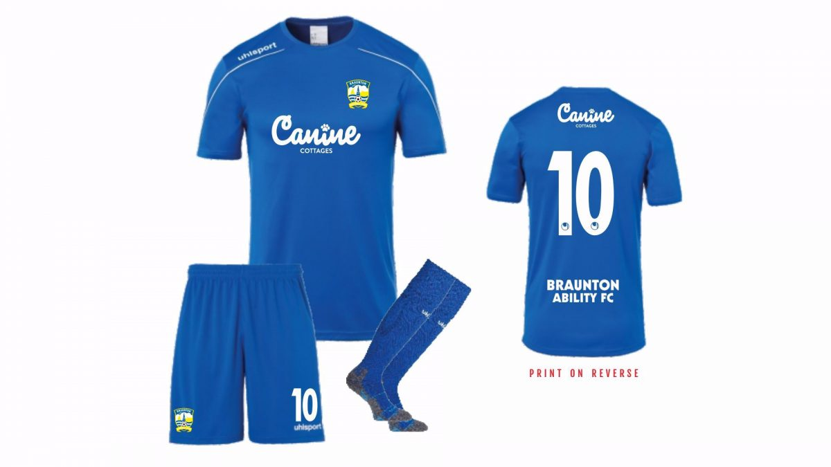 Braunton Abilities FC Playing Kit  - ADULT SIZES
