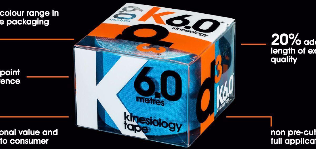 k6.0 kinesiology Box of 6 BLACK
