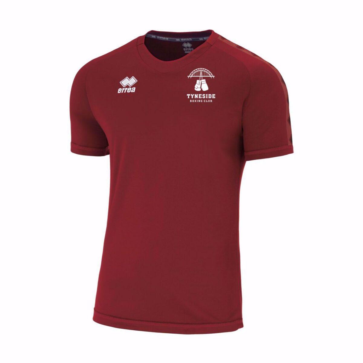 Tyneside Boxing Club Side T Shirt FM440C - Maroon